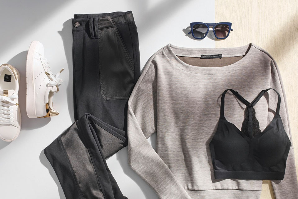 A stylish outfit neatly arranged