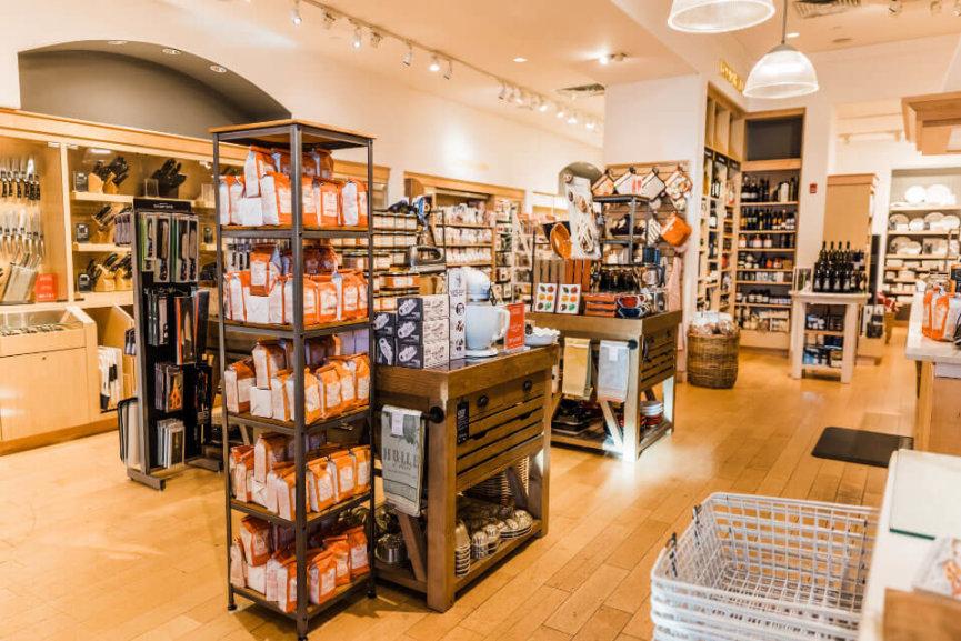The William Sonoma showroom