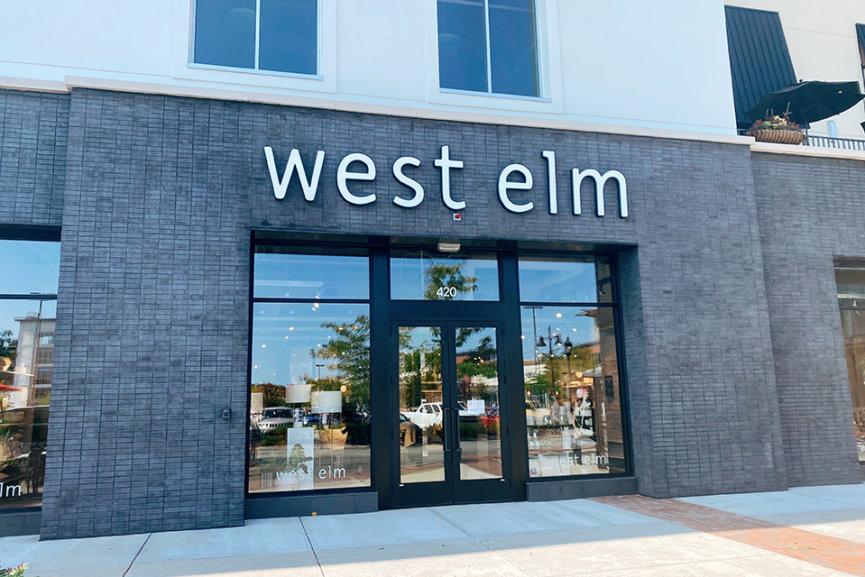 The west elm storefront