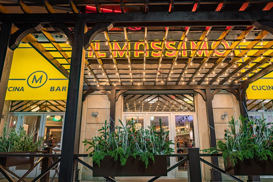 A restaurant entrance